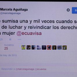 Marcela Aguiñaga: usted no responde por su sumisión