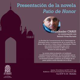 Presentación de la novela Patio de Honor