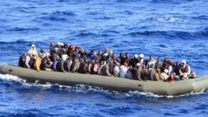 Inmigrantes subsaharianos en el Mediterráneo