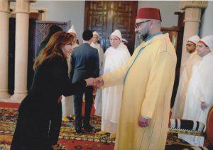 La Embajadora de Colombia ante el Reino de Marruecos presentó sus Cartas Credenciales al Rey de Marruecos el 22 de enero (2020)